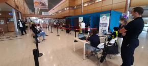 Un test antigénique à l'aéroport Félix-Éboué pour les voyageurs en provenance des Antilles